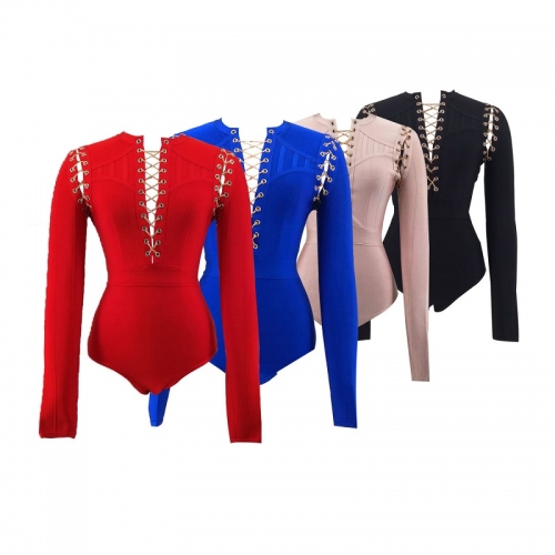 2018 Latest Hot Sales lady evening Cocktail bandage bodysuit tops