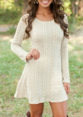 Wholesale Price 2018 New & Hot  O- Neckwear Slim Sweater dress Knitting Cardigan for Girl