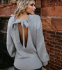 2018 New  & Hot Woman O neck long sleeve backless plus size sweater