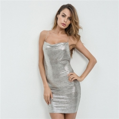 2018 Latest fashion women sexy backless tight mini club dresses