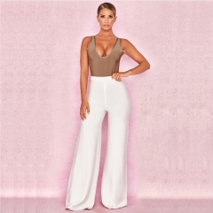 2018  New  Knitted Sexy Bodysuits Women Sleeveless Rompers Womens Jumpsuit Basic Playsuit Womens Tops